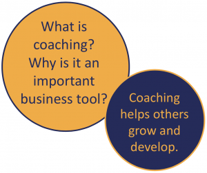 What is coaching? Why is it an important business tool? Coaching helps others grow and develop.