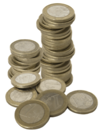 Pit Stop Coins in a pile
