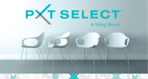 PXT Select logo with chairs